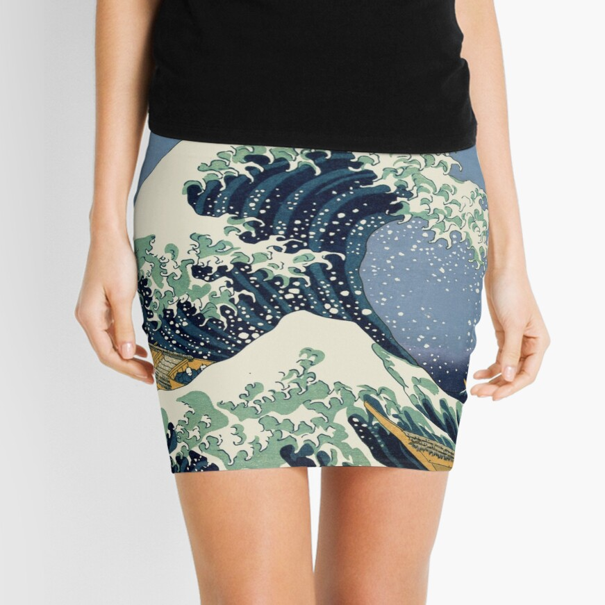 The Great Wave by Katsushika Hokusai Mini Skirt