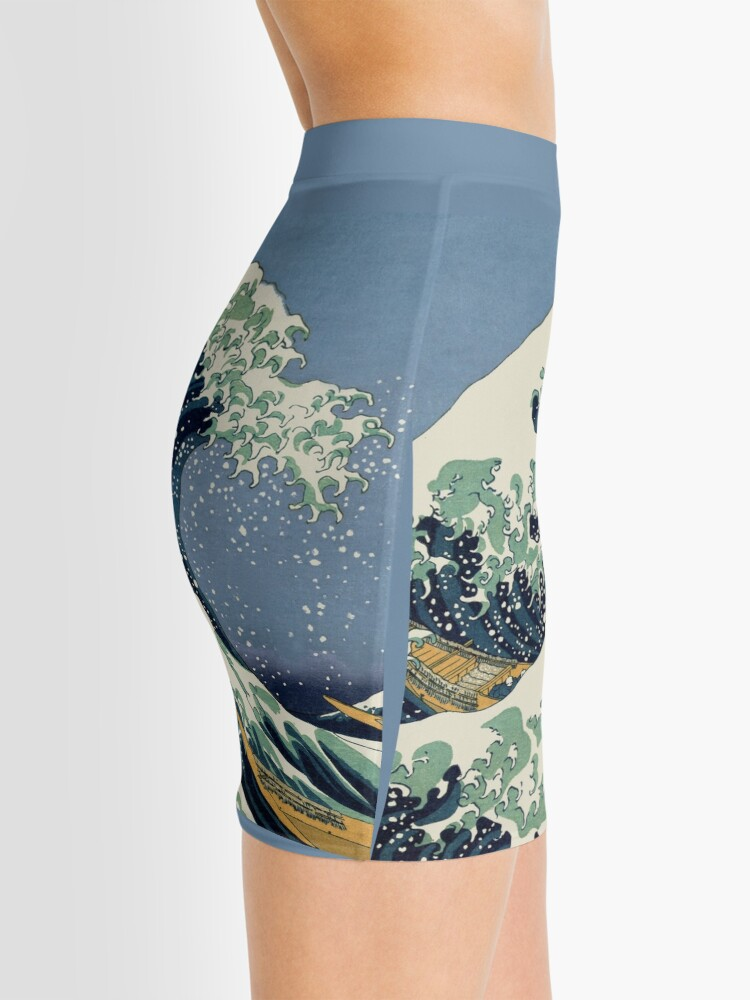 Alternate view of The Great Wave by Katsushika Hokusai Mini Skirt