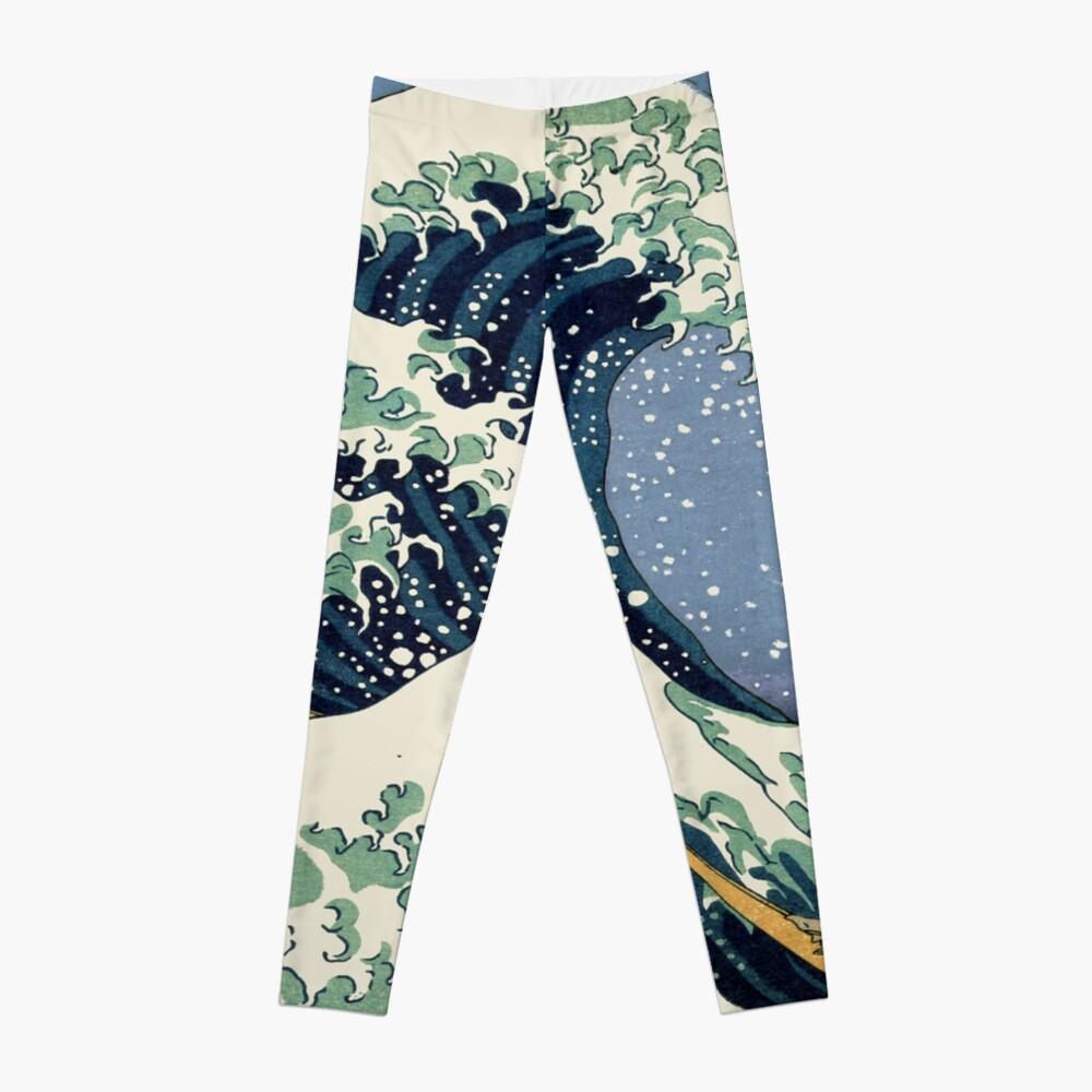The Great Wave by Katsushika Hokusai Leggings