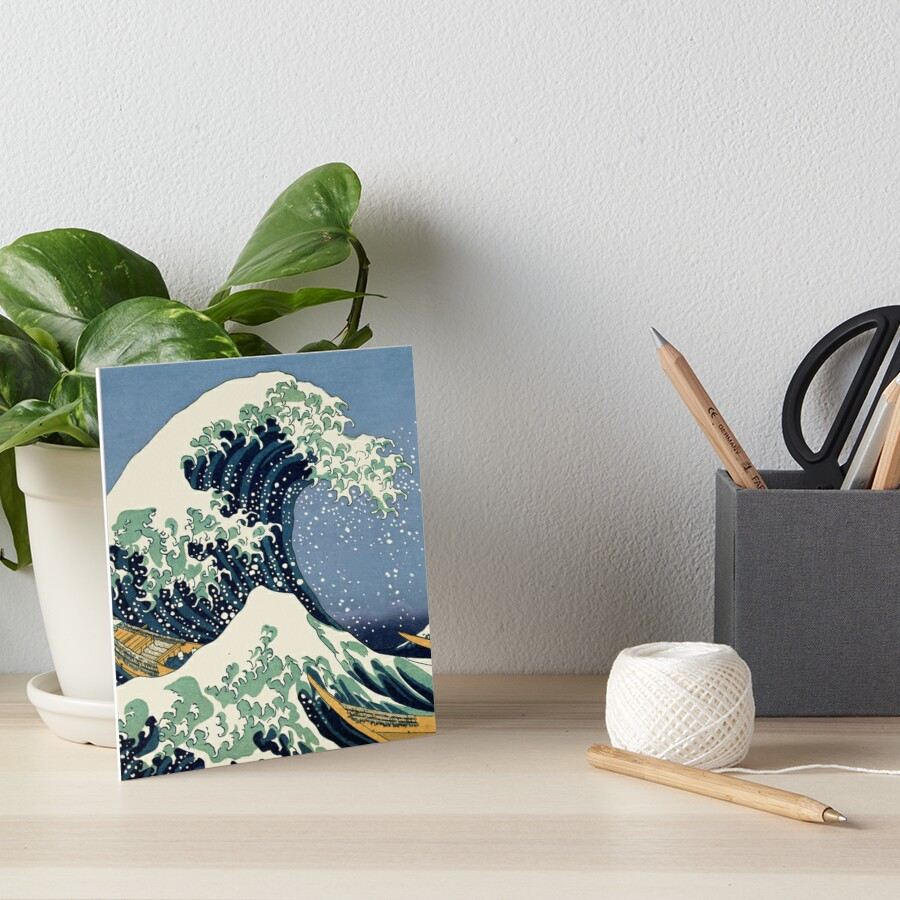 The Great Wave by Katsushika Hokusai Art Board Print