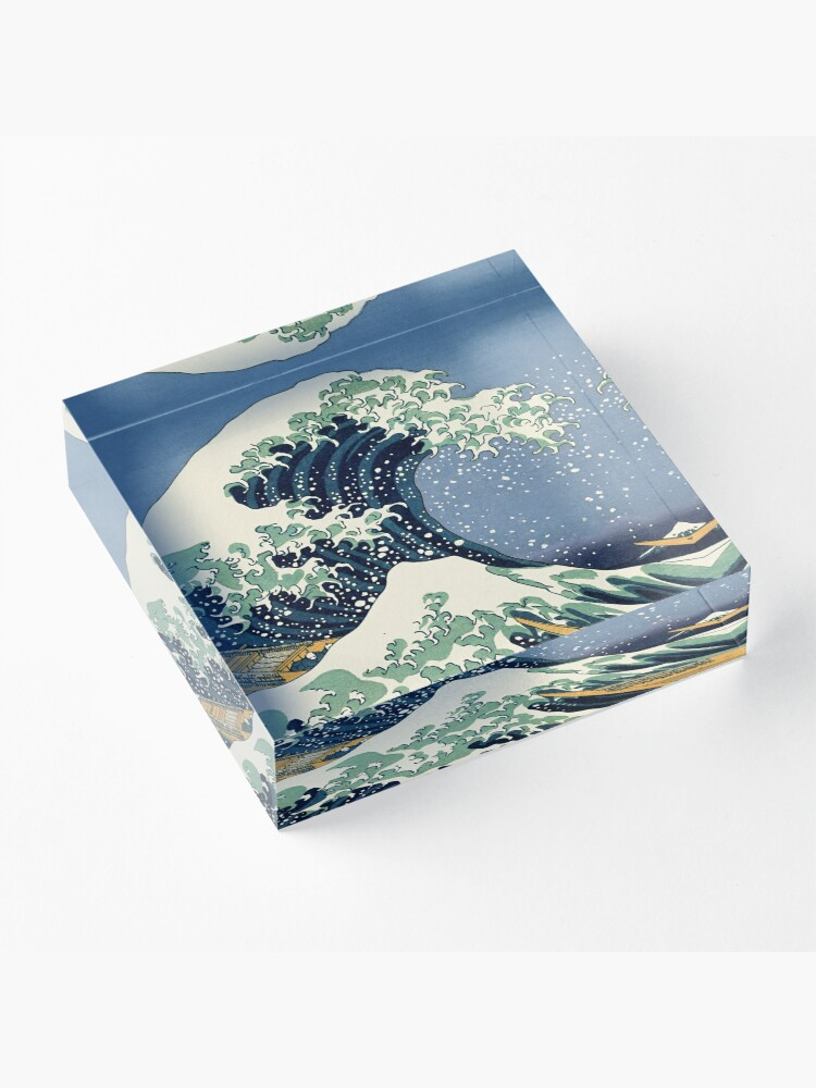 Alternate view of The Great Wave by Katsushika Hokusai Acrylic Block