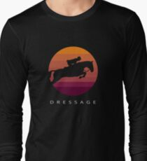 Dressage - Vintage Style Retro Artwork Long Sleeve T-Shirt