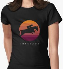 Dressage - Vintage Style Retro Artwork Women's Fitted T-Shirt