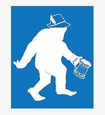 Oktoberfest Octoberfest Sasquatch Bigfoot Funny Gift T-Shirt Photographic Print