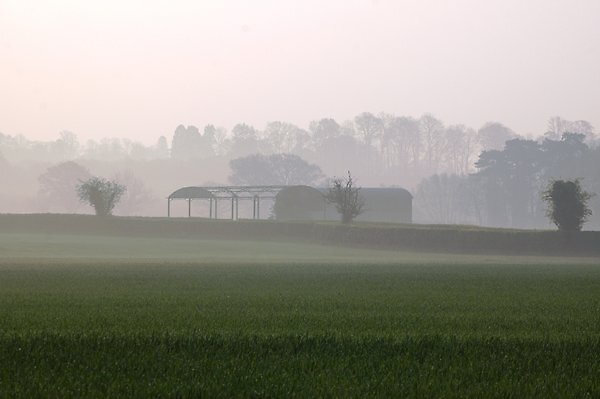 misty dawn in oxforshire by planetsog