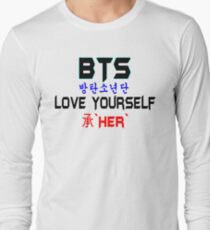♥♫BTS-Bangtan Boys-Love Yourself-'Her'♪♥ Long Sleeve T-Shirt