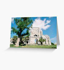 Old church ruins Greeting Card