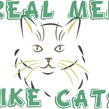 Real Men Like Cats T-Shirt by culturageekstor