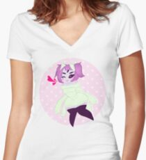 Cozy Muffet (Undertale) Women's Fitted V-Neck T-Shirt