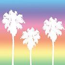 Rainbow Palm Tree Sunset by julieerindesign