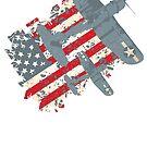 USA Pacific War Air Force Patriot by quark
