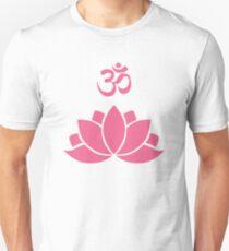 Pink OM lotus T-Shirt