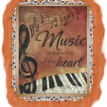 Music Is Feelings From The Heart by RDGGlobal