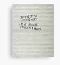 For Better or For Worse Canvas Print