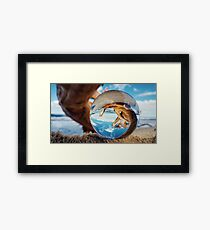 ORB In Wooden Spiral Framed Print