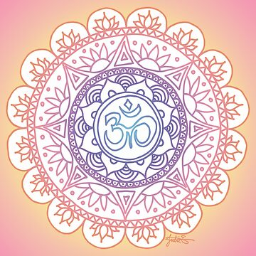 Peaceful Ohm Mandala Design by julieerindesign