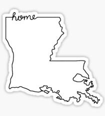 Louisiana Home State Outline Sticker