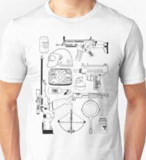 Playerunknown's Battlegrounds The Arsenal - PUBG Black T-Shirt