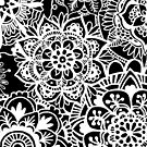 Black and White Mandala Pattern by julieerindesign