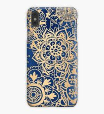 Blue and Gold Mandala Pattern iPhone XS Max Case