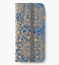 Blue and Gold Mandala Pattern iPhone Wallet/Case/Skin
