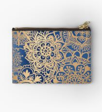 Blue and Gold Mandala Pattern Studio Pouch