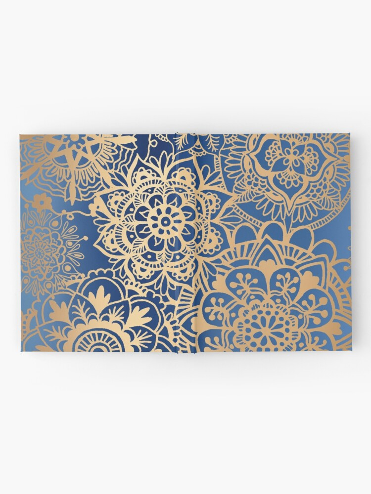 Alternate view of Blue and Gold Mandala Pattern Hardcover Journal