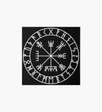 Vegvísir PATH GUIDE and Elder Futhark RUNES Art Board