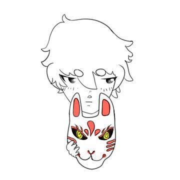 Kitsune Mask by ichigobunny