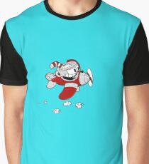 Cuphead In a Plane Graphic T-Shirt