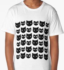 Black cat - halloween pattern Long T-Shirt