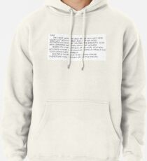 the letter Pullover Hoodie