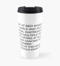 the letter Travel Mug