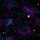 Blue and Purple Galaxy by julieerindesign