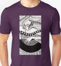 lady with fan Unisex T-Shirt