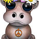 Niedliches Baby Hippo Hippie von jeff bartels