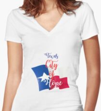 Texas City of Hope Women's Fitted V-Neck T-Shirt