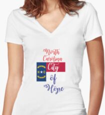 North Carolina City of Hope Women's Fitted V-Neck T-Shirt