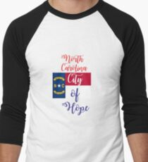 North Carolina City of Hope Men's Baseball ¾ T-Shirt