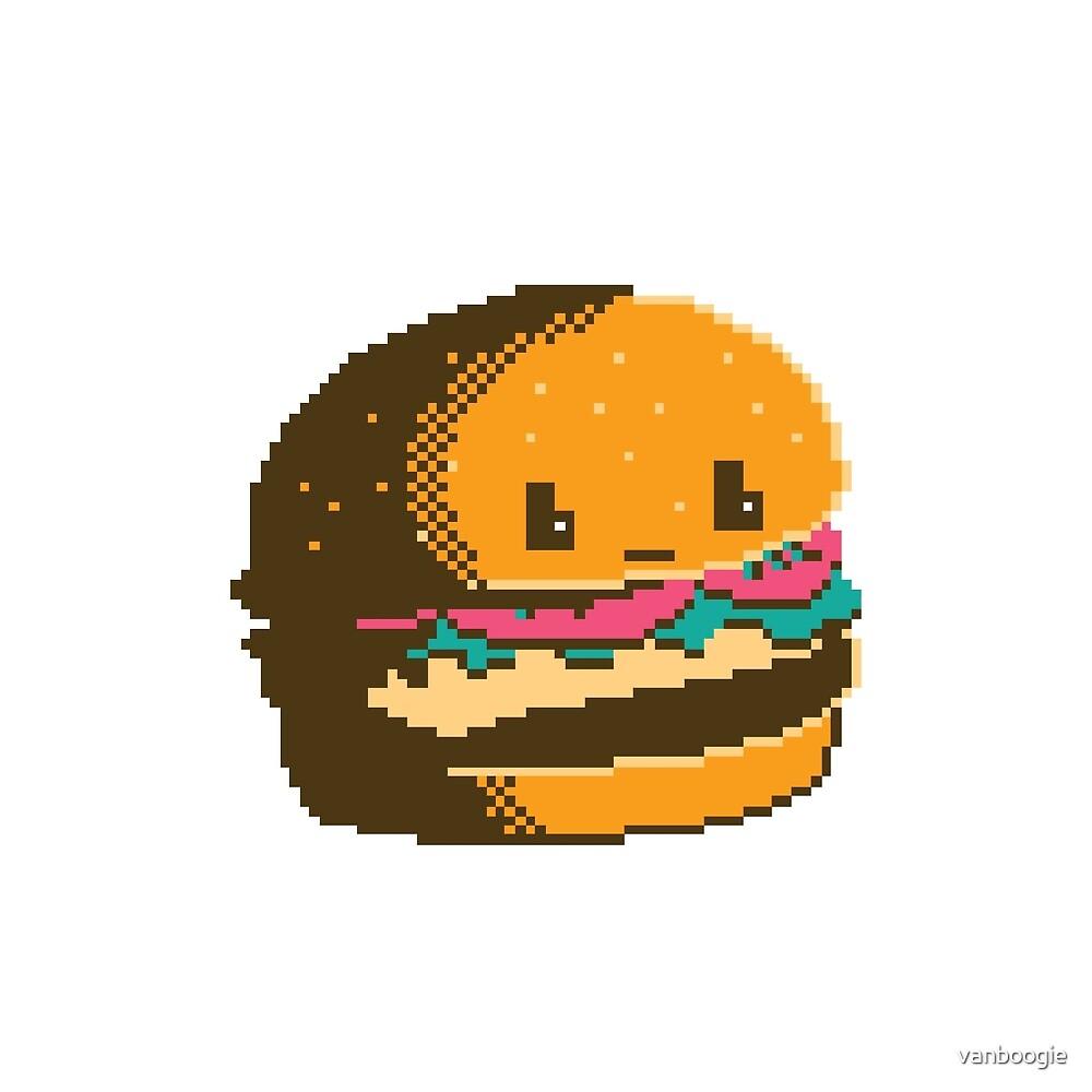 Pixel Cheeseburger by vanboogie
