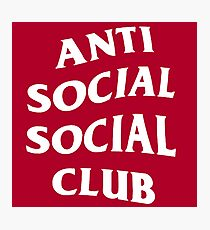 Anti Social Social Club Photographic Print