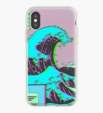 The Great Wave off Vaporwave Kanagawa iPhone Case