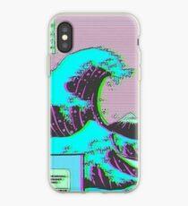 The Great Wave off Vaporwave Kanagawa iPhone Case