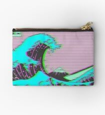 The Great Wave off Vaporwave Kanagawa Studio Pouch
