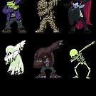 Tupfen Halloween Kreaturen Skelett Zombie Tupfen von vomaria