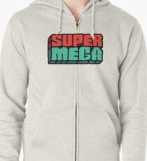 supermega logo Zipped Hoodie