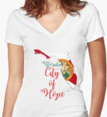Florida City of Hope Women's Fitted V-Neck T-Shirt