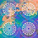 Mandala Vibes in orange & purple by danita clark