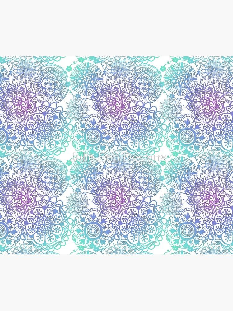 Pastel Mandala Pattern by julieerindesign