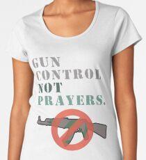 Gun Control Not Prayers Anti-NRA Women's Premium T-Shirt